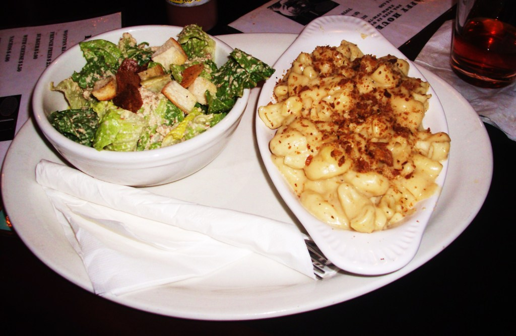 Macaroni & Cheese with Caesar Salad